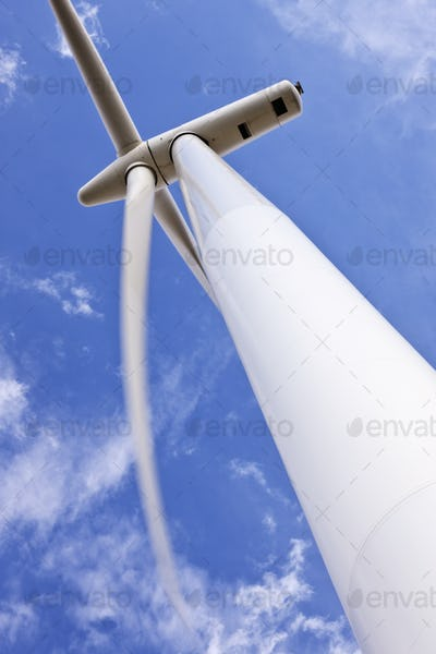 51614,Wind Turbine Under Clouds