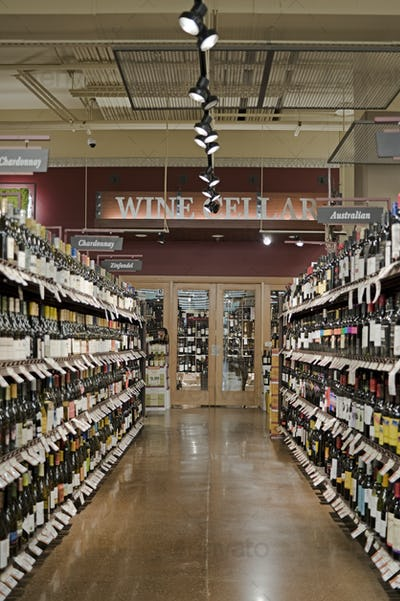 49161,Wine Aisle in a Supermarket