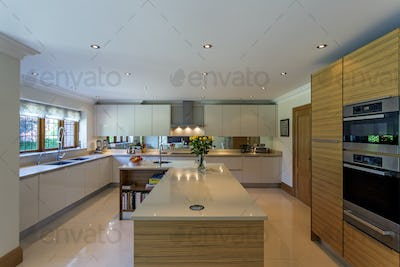 54992,Countertops and oven in modern kitchen