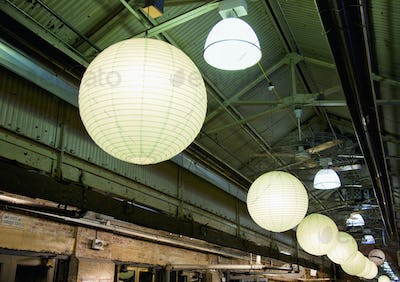49455,Lanterns in an Industrial Building