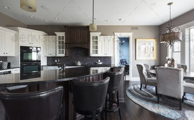 55247,Island and dining table in open kitchen space