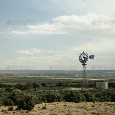 45662,Windmill and Water Tank on the Prairie