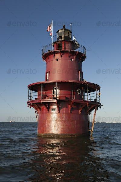 54374,Lighthouse in ocean
