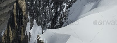 54499,Mountaineers heading to Mt. Blanc, Chamonix, France
