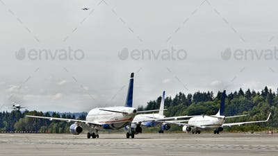 45386,Airplanes on a Runway