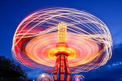 54566,Spinning chain swing ride at Puyallup Fair, Puyallup, Washington, United States