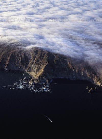 50342,Fog Covered Northern Califiornia Coast
