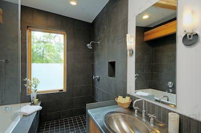 54212,Shower and sink in modern bathroom