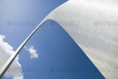 52799,View of Gateway Arch in St Louis, Missouri from below