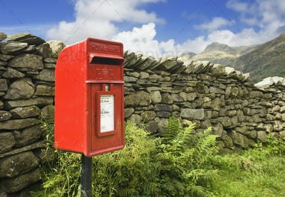 48947,Red Mailbox in English Lake District