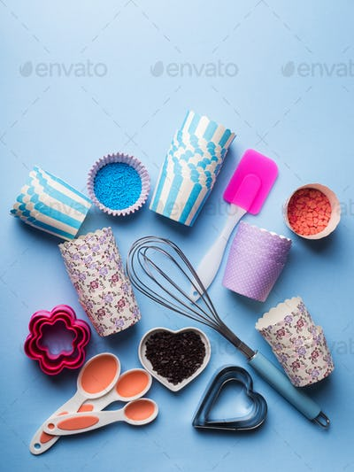 Sweet baking concept. Girlish style