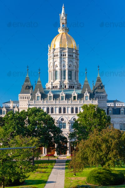 Connecticut State Capitol in Hartford, Connecticut.