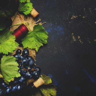 Red wine from grape varieties cabernet sauvignon