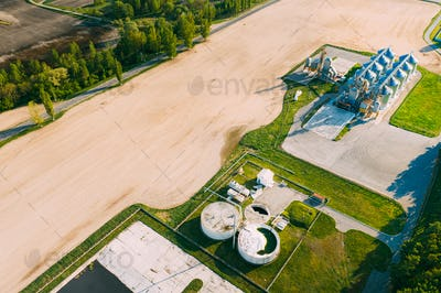 Biogas Bio-gas Plant From Pig Farm And Granary, Grain-drying Complex, Commercial Grain Or Seed Silos