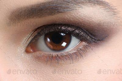 Macro shot of an eye of a woman