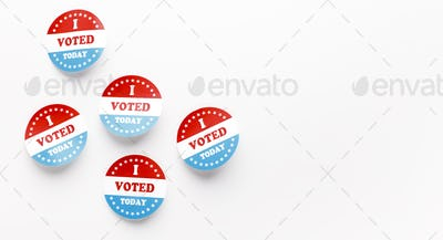 I voted today, US elections 2020 patriotic button pins