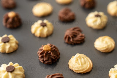 Bite size butter cookies