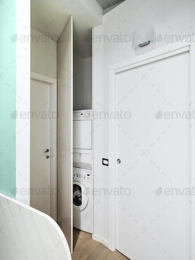 Washmachine Hidden in the Closet