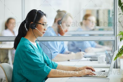 Operator working at hospital