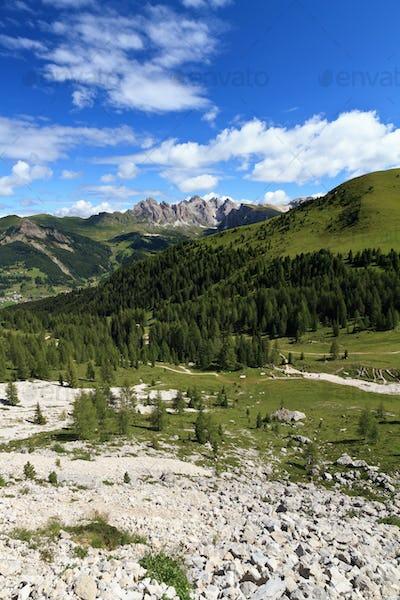 high Gardena valley - vertical composition