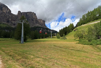 cableway in Badia valley