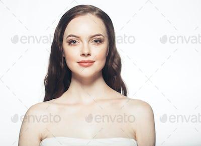 Healthy woman skin beauty face portrait
