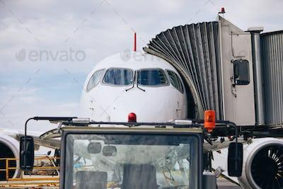 Preparation airplane before flight
