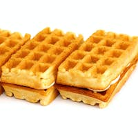 waffle cookies stacked