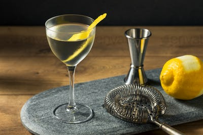 Boozy Dry Vesper Martini Cocktail