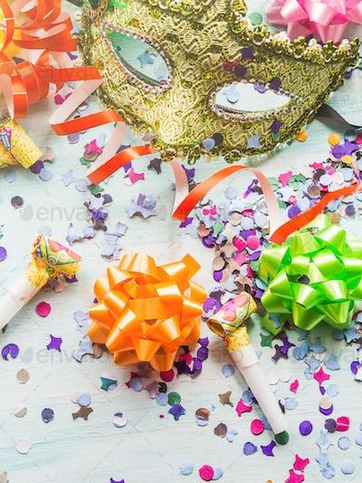 Colorful cranival Mardi gras background