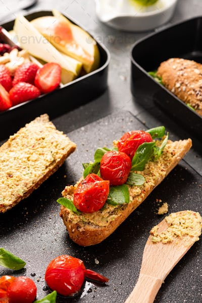 Wholegrain Baguette Healthy Lunch for Take Away