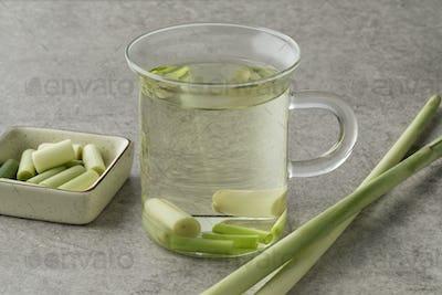 Cup of refreshing lemongrass tea