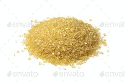 Heap of natural brown sugar