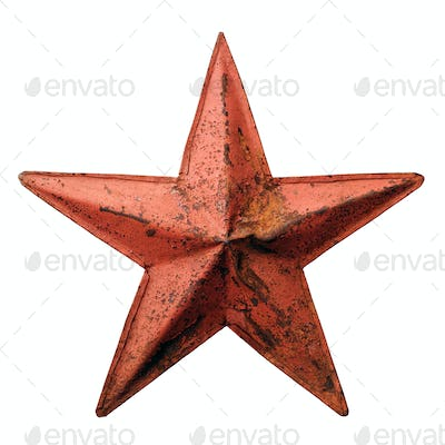 Old metal red star