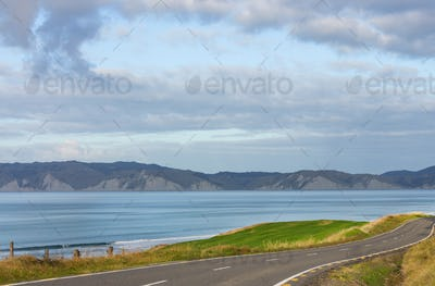 Road in coast