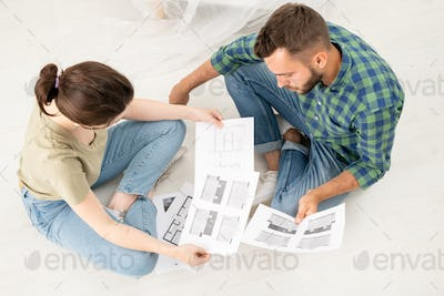 Analyzing house plans while thinking about renovation