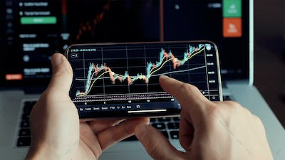 investment stockbroker stock market analysis data graph with price rates