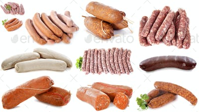 group of sausages