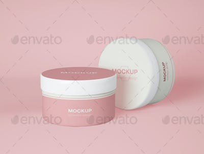 3D Illustration. Mockup of skincare bottle packaging.