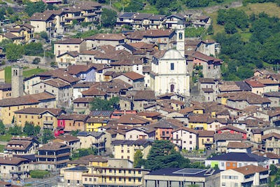 View of Breno from the road to Crocedomini pass