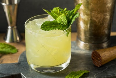 Boozy Refreshing Chartreuse Smash