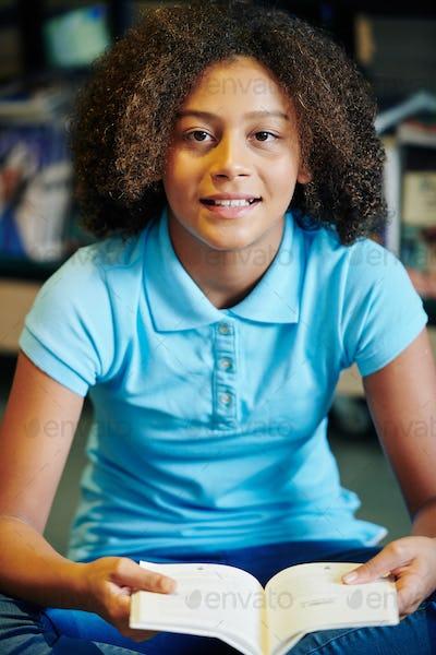 Mixed-race teenage girl