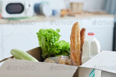 Box of Food in Kitchen