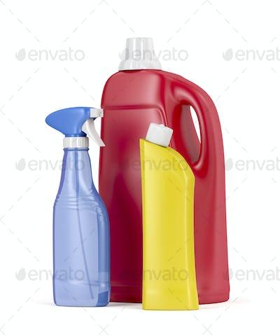 Plastic detergent bottles