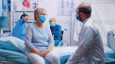 Elderly person doctor consultation
