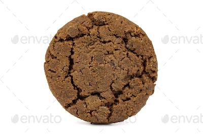 Dark chocolate chips cookie on white background