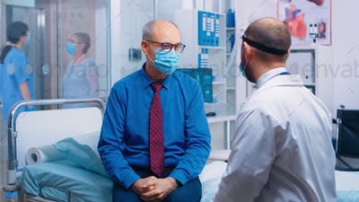 Doctor explaining the steps to be followed