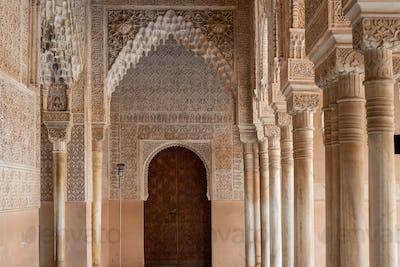 Moorish arches in The Alhambra