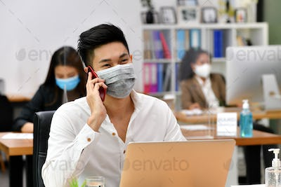 office distance new normal work