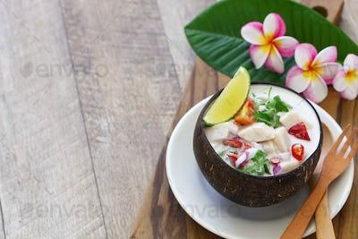 Kokoda, Fijian coconut milk ceviche